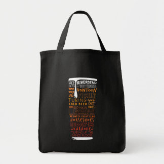 Riverbend Beer Word Collage Tote