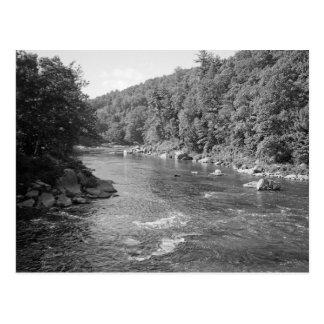 riverblacknwhite post card