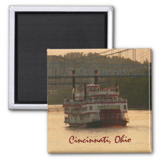 Riverboat on Ohio River Magnet