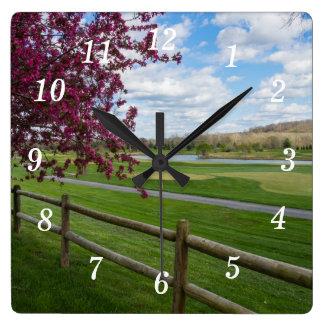 Rivercut In Spring Clock