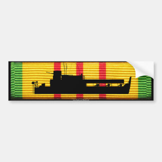 Riverine Inf. ATC Tango Boat on VSM Ribbon Bumper Sticker