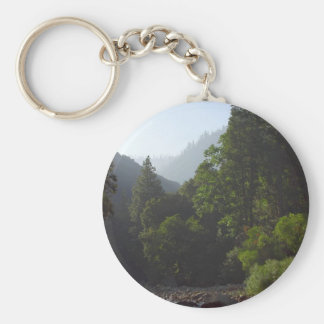 Rivers Valleys Canyons Pinetrees Basic Round Button Key Ring