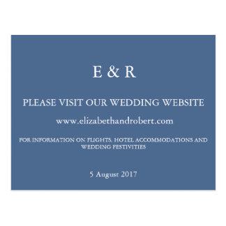 Riverside Blue with White Wedding Detail Postcard