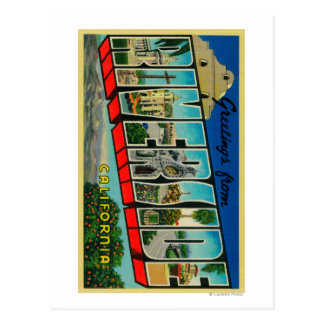 Riverside, California - Large Letter Scenes Postcard