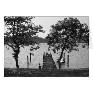 Riverside Chat - Black and White Card