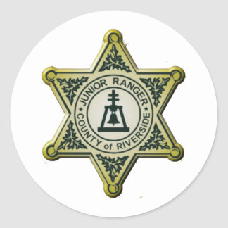 Riverside Junior Ranger Classic Round Sticker