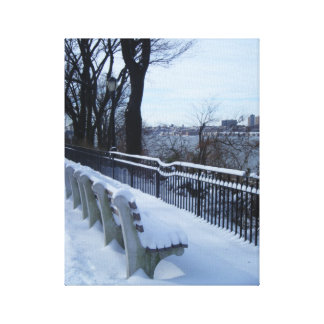 Riverside Park (NYC) Snow Scene Photo Canvas Gallery Wrapped Canvas