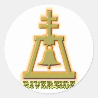 Riverside Raincross Classic Round Sticker