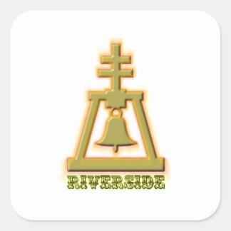 Riverside Raincross Square Sticker