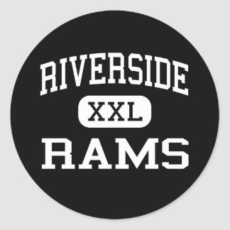 Riverside - Rams - High - Riverside New Jersey Classic Round Sticker