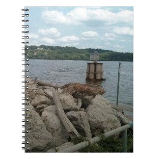 Riverwalk Dubuque Iowa Mississippi River Spiral Notebook
