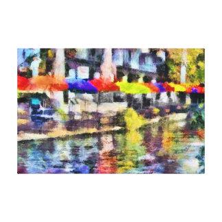 Riverwalk Stretched Canvas Print