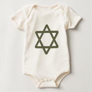 Rivet Star of David for Jewish Celebrations Baby Bodysuit