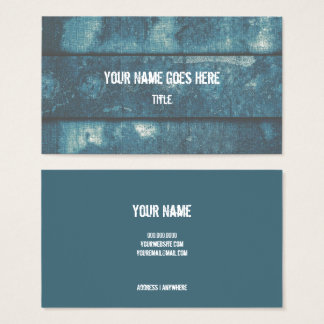 Riveted II Teal/Blue Industrial Business Cards