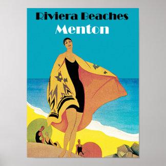 Riviera Beaches ~ Menton Poster