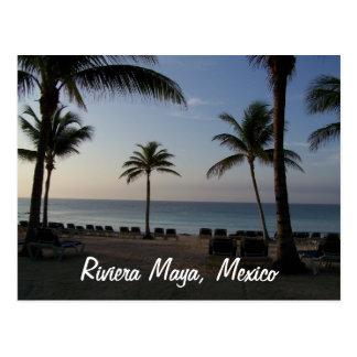 Riviera Maya Cancun Mexico Beach Vacation Postcard