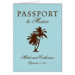 Riviera Maya Mexico Passport | Wedding Note Card