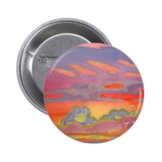 Riviera Sunset Clouds, customizable 6 Cm Round Badge