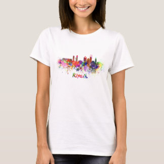 Riyadh skyline in watercolor T-Shirt