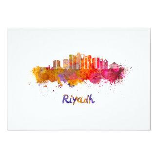 Riyadh V2 skyline in watercolor Card