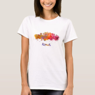 Riyadh V2 skyline in watercolor T-Shirt