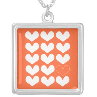 Riyah-Li Designs Hearts Square Pendant Necklace