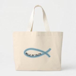 Riyah-Li Designs Walk By Faith Large Tote Bag