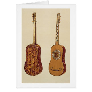 Rizzio Guitar, from 'Musical Instruments' (coloure Card