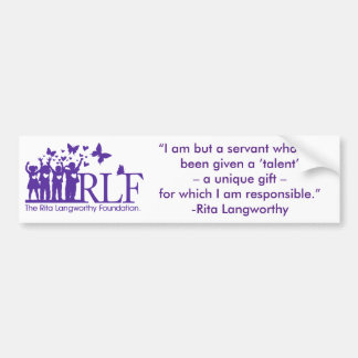 RLF Signature Logo Bumper Sticker