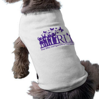 RLF Signature Logo Doggie Ribbed Tee Shirt Sleeveless Dog Shirt