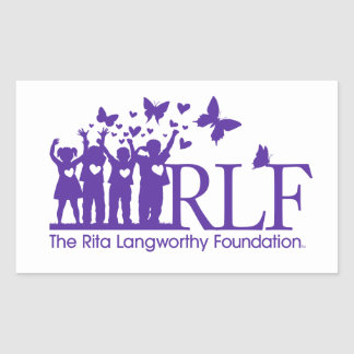 RLF Signature Logo Rectangle Sticker, Glossy Rectangular Sticker