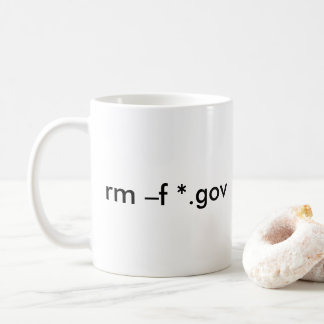 rm –f *.gov --Delete all government files Coffee Mug