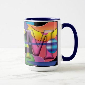 RM monogrammed coffee mug