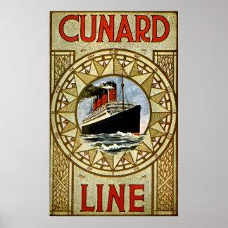 RMS Berengaria Vintage Cunard Line Poster