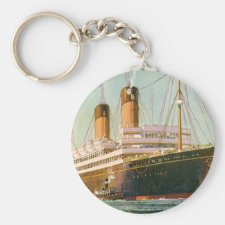 RMS Laurentic Basic Round Button Key Ring