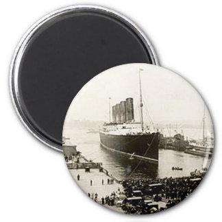 RMS Lusitania 6 Cm Round Magnet