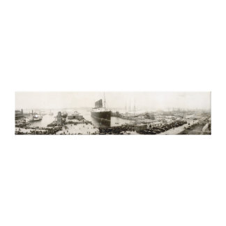 RMS Lusitania New York City 1907 Vintage Stretched Canvas Prints