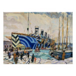 """RMS Olympic in Dazzle Camouflage 18x24"""" poster"""