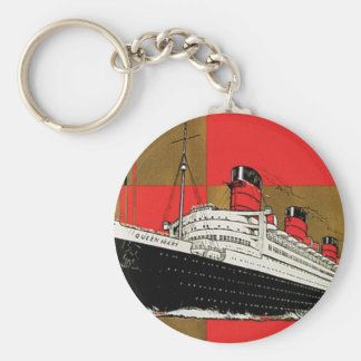 RMS Queen Mary Basic Round Button Key Ring