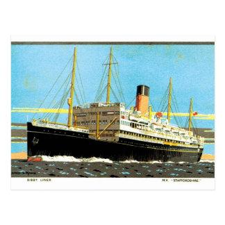RMS Staffordshire Postcard
