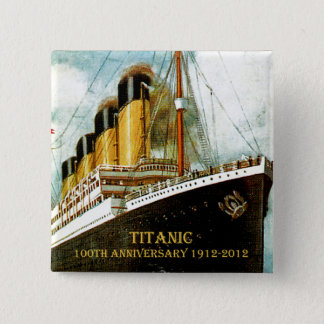 RMS Titanic 100th Anniversary 15 Cm Square Badge