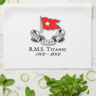 RMS Titanic 1912-2012  American MoJo Kitchen towel