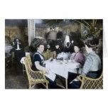 RMS Titanic 1st Class Passengers Enjoy Luxury Greeting Card