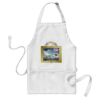 RMS Titanic and Iceberg Painting Adult Apron