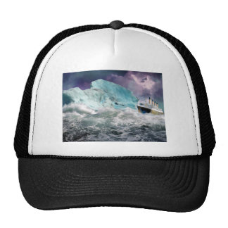 RMS Titanic and Iceberg Painting Cap