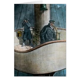 RMS Titanic Iceberg Ahead! Vintage Magic Lantern Greeting Card