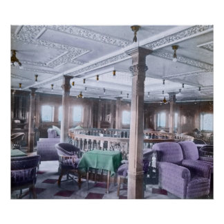 RMS Titanic Luxurious Lounge First Class Poster