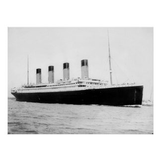 RMS Titanic Passenger Liner Poster