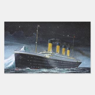 RMS Titanic Rectangular Sticker