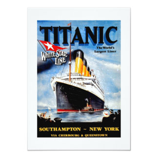 RMS Titanic Travel Ad 11 Cm X 16 Cm Invitation Card